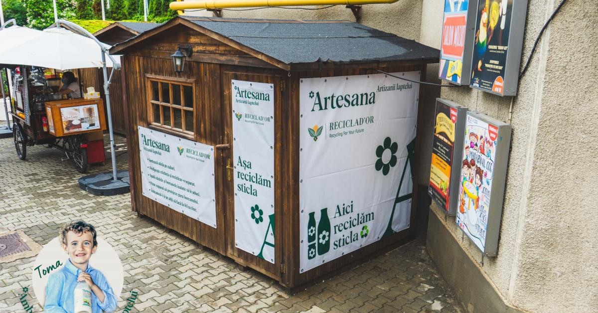 Artesana și Reciclad'OR deschid primul lor centru de colectare a ambalajelor din sticlă