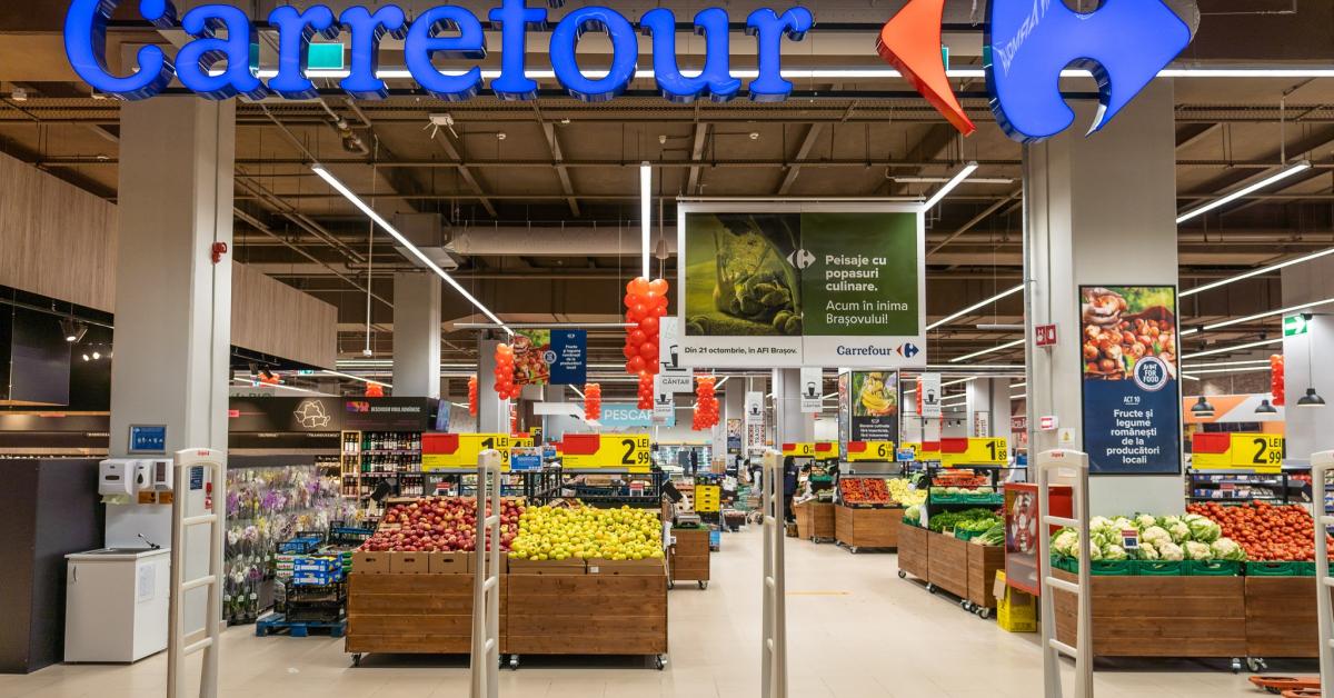 Carrefour a înregistrat o creștere de 3,6%, în primăvară