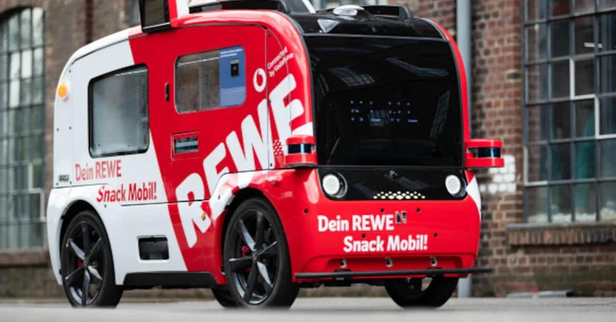 Rewe și Vodafone au început testarea shopului mobil, un vehicul cu pilot automat
