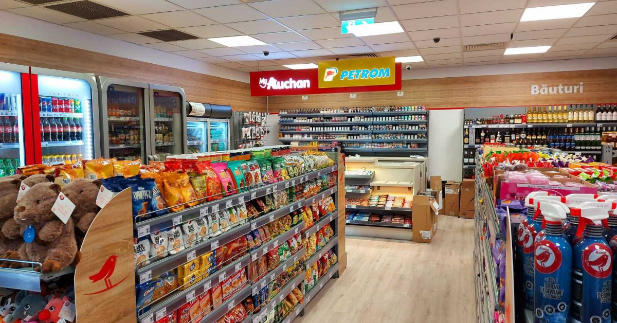 Rețeaua de magazine MyAuchan din stațiile Petrom a ajuns la 50 de unități