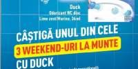 Castiga unul din cele 3 weekend-uri la munte cu duck