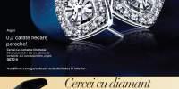 Cercei cu diamante Charlesia