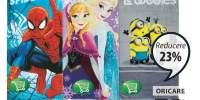 Prosop de baie copii SpiderMan/ Frozen/ MInions
