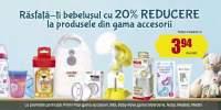 20% reducere la produsele din gama accesorii pentru bebelusi