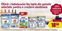 25% reducere la gamele de lapte 1+