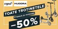 Trotinete Cygnus si Hudora: 50% reducere