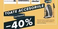 Toate accesoriile outdoor cu 40% reducere