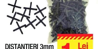 Distantieri 3 milimetri 100 bucati/pachet