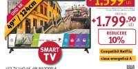 Televizor LED Smart Ultra HD 4K, HDR, 123 cm, LG 49UK6200PLA