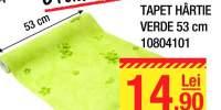 Tapet hartie verde 53 centimetri