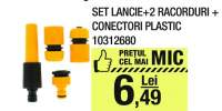 Set lancie + 2 racorduri + conectori plastic