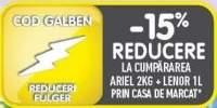 15% reducere la cumpararea pachetului Ariel + Lenor