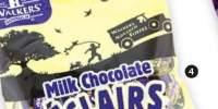 Caramele cu aroma de ecler cu ciocolata Walkers'