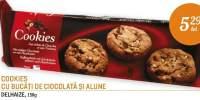 Cookies cu bucati de ciocolata si alune, Delhaize