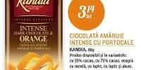 Ciocolata amaruie Intense cu portocale, Kandia