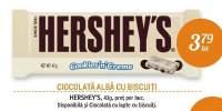 Ciocolata alba cu biscuiti Hershey's