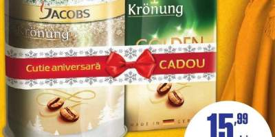 Cafea macinata Jacobs Kronung + Cutie cadou