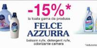15% reducere la toata gama de produse Felce Azzurra