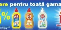 15% reducere pentru toata gama de detergenti de vase Pur