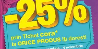 25% reducere la orice produs iti doresti!