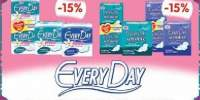 15% reducere la absorbantele si protejslipurile Every Day