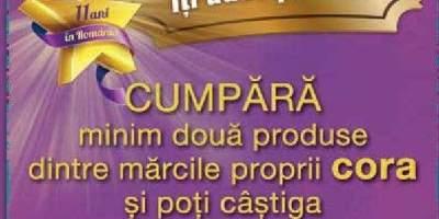 Produsele marca proprie Cora iti aduc premii!