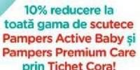 10% reducere la toata gama de scutece Pampers!