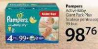 Pampers Active Baby Giant Pack Plus