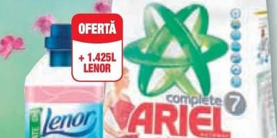 Detergent rufe Ariel + Balsam de rufe Lenor