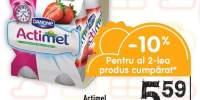 Actimel iaurt capsuni/ fructe de padure/ rodie/ capsuni&banane