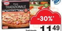 Pizza congelata prosciutto si funcghi/ mozzarella e pesto Tradizionale