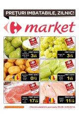 Pliant Carrefour Market 28 august - 3 septembrie 2014 'Preturi imbatabile, zilnic'